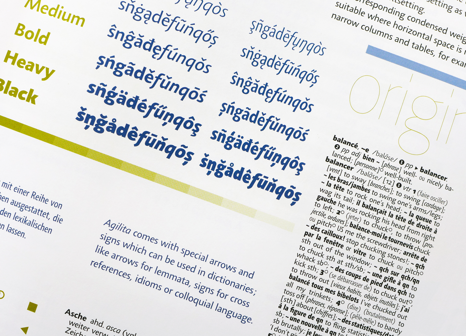 foreign characters in Agilita typeface