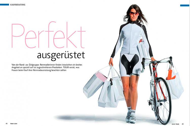 Agilita von Jürgen Weltin Type Matters in Europas größter Radzeitschrift TOUR