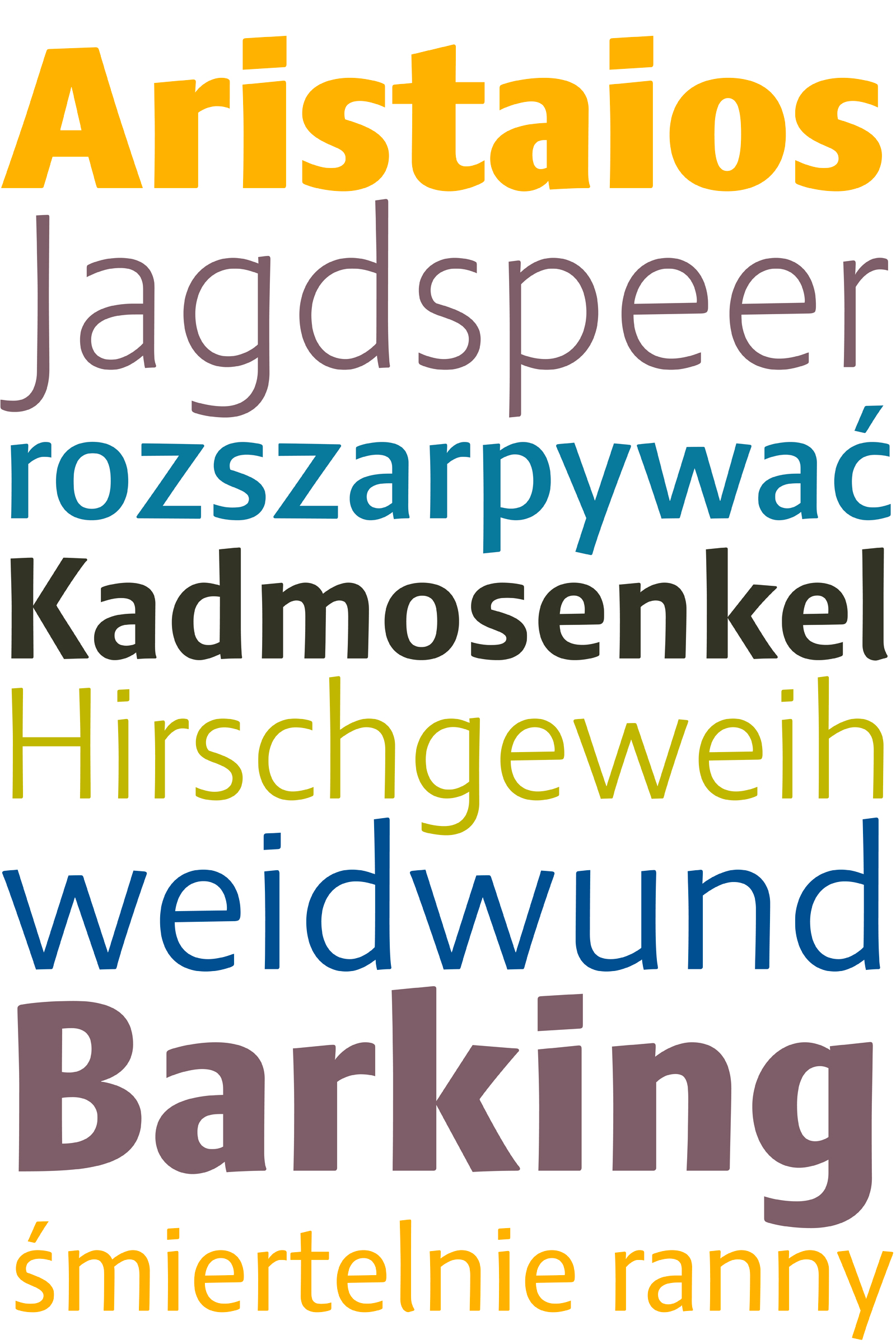 Aktaion fonts by Jürgen Weltin type matters