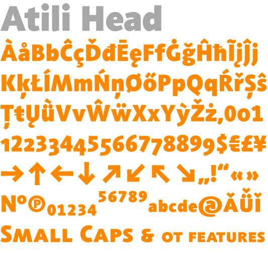 Atili Head characters by Jürgen Weltin, Type Matters