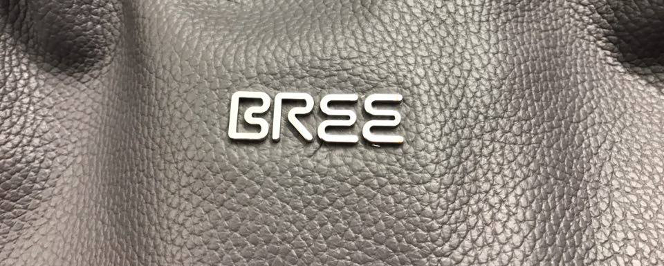 Bree logo on leather bag