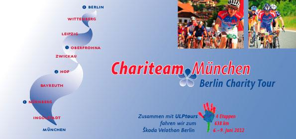 Flyer für eine Charity Radtour von München nach Berlin