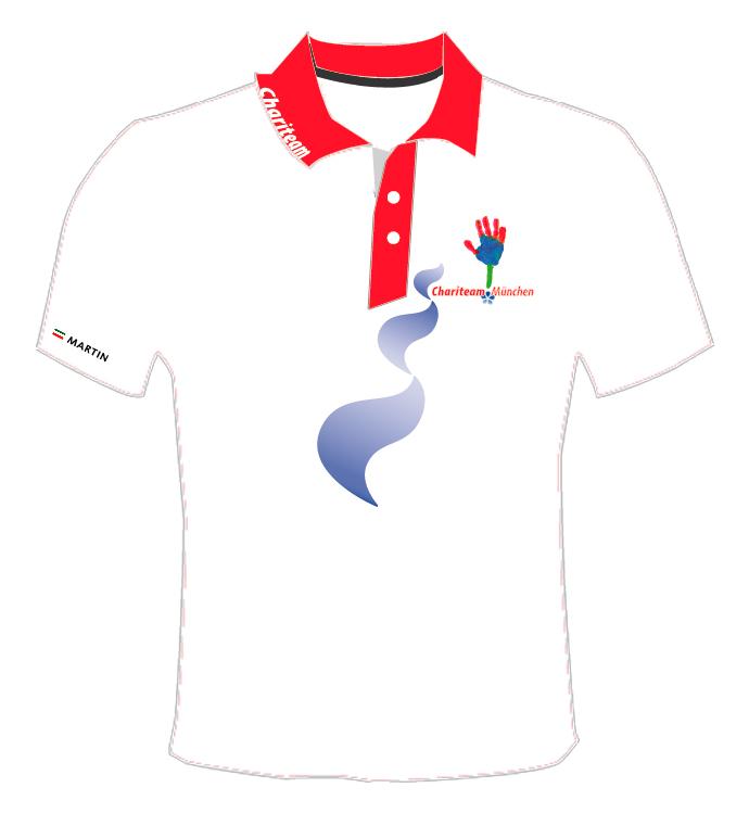 Entwurf Team Polo-Shirt für das Chariteam München