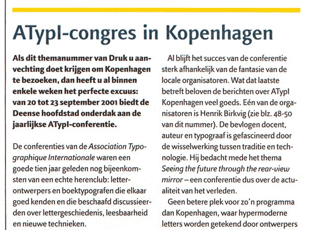 Druk – Font magazine Benelux