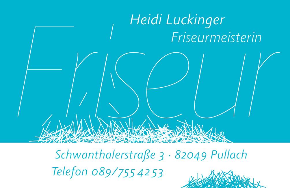 Visitenkarte Friseurmeisterin Heidi Luckinger Pullach