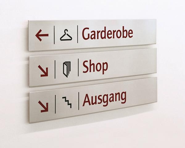 Orientierungssystem in der Hypo-Kunsthalle München