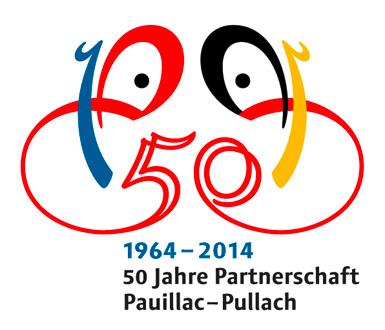 Logo für 50 Jahre Städtepartnerschaft Pauillac-Pullach 1964–2014