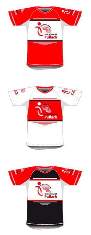 Trikot Design für die verschiedenen Radball-Mannschaften des RSV Solidarität Pullach