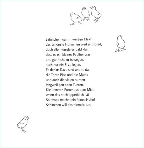 Das Hühnchen Sabinchen, Thienemann-Esslinger Verlag