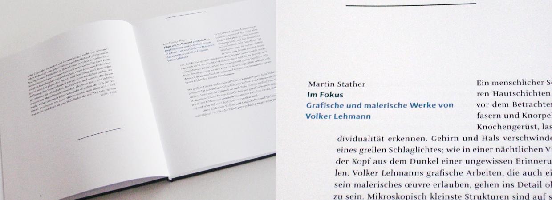 Typography for exhibition catalogue Volker Lehmann Neue Malereien Mannheimer Kunstverein 2013