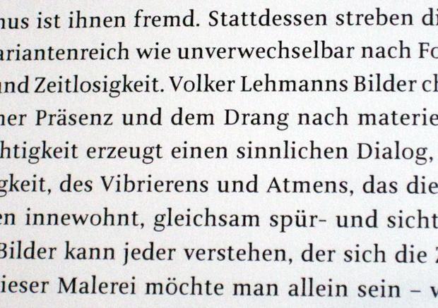 Custom typeface for Volker Lehmann Neue Malerein by Jürgen Weltin, Type Matters