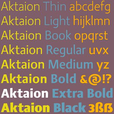 Aktaion Sanserif typeface © Jürgen Weltin, Type Matters