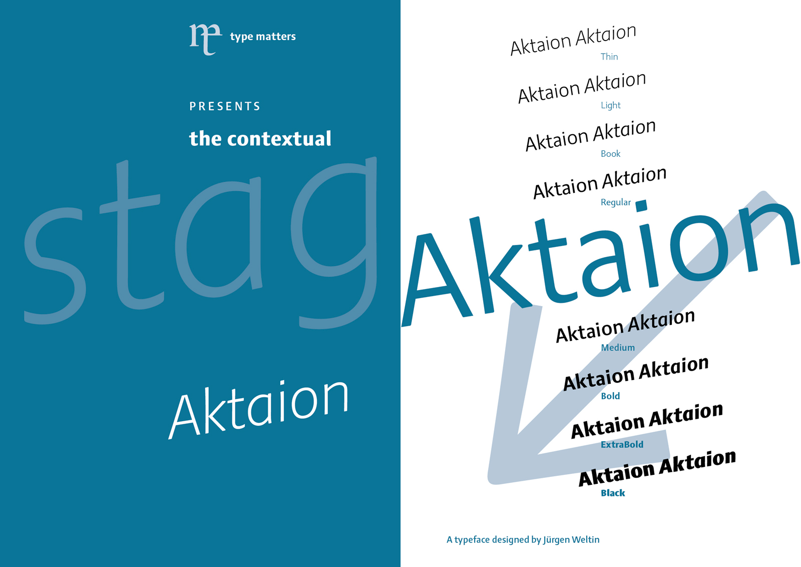 type matters Jürgen Weltin presents new sanserif typeface Aktaion